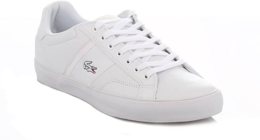 286c44f7ebcc Lacoste Mens White Fairlead CTR Trainers Casual Shoes For Men - Buy ...