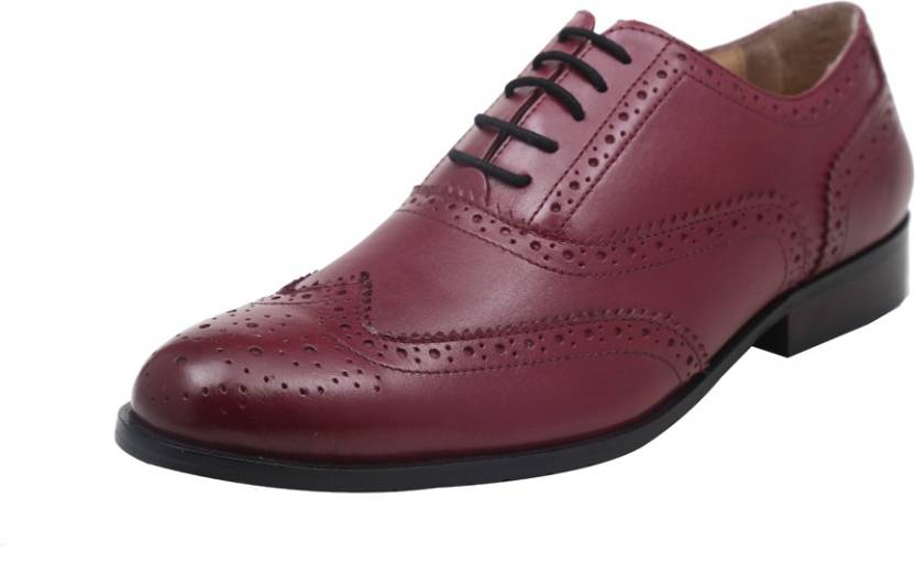 Harper Woods Clic Oxford Red Wine Lace Up Shoes For Men