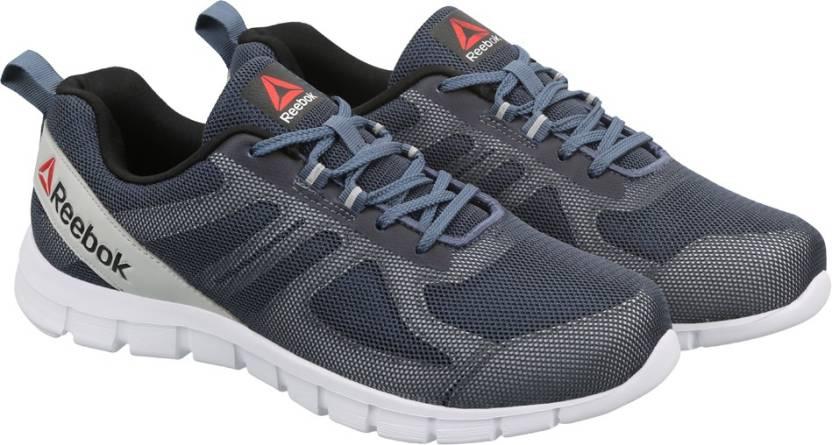 d2b3dfbac701d4 REEBOK SUPER LITE Running Shoes For Men - Buy SLATE GRY BLK SLVR WHT ...