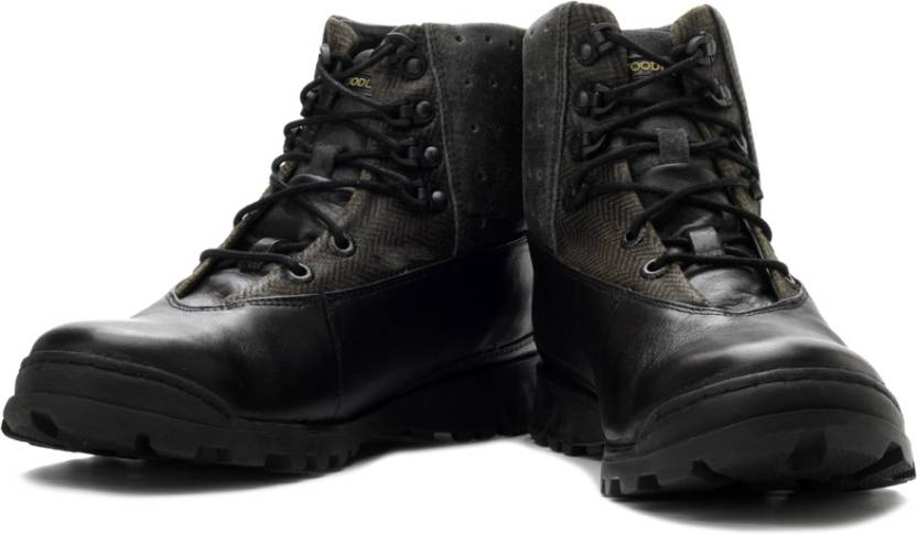 Woodland Men Boots - Buy Black Color Woodland Men Boots ...
