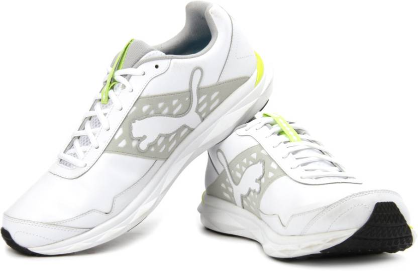 promo code 08b63 076bd Puma Pumagility Speed L Running Shoes For Men (White, Grey, Yellow)