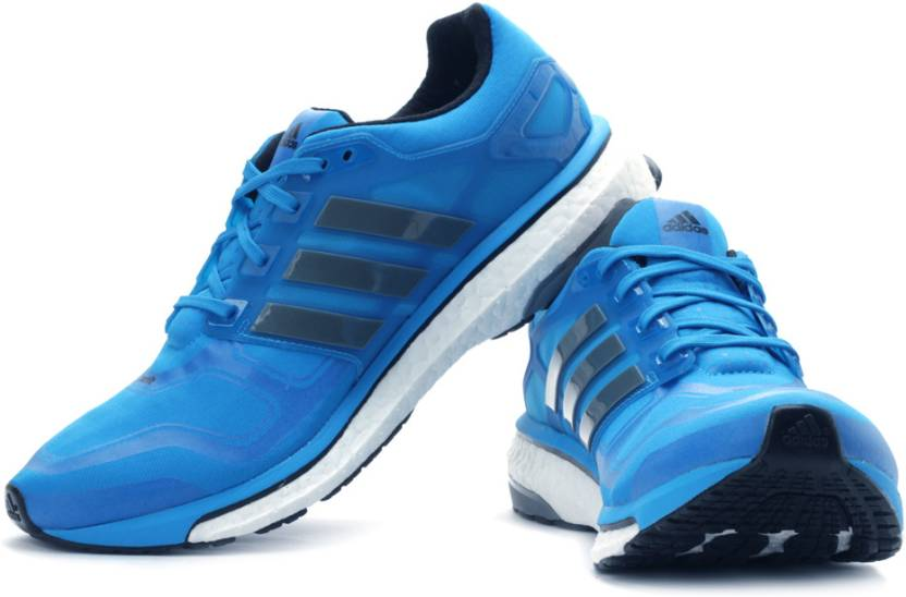 newest collection 992d4 7445d ADIDAS Energy Boost 2 M Running Shoes For Men (Grey, Blue)