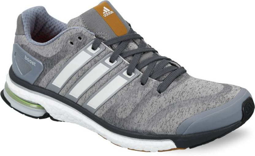 check out f5cae 07e95 ADIDAS Adistar Boost M Heather Running Shoes For Men (Grey)
