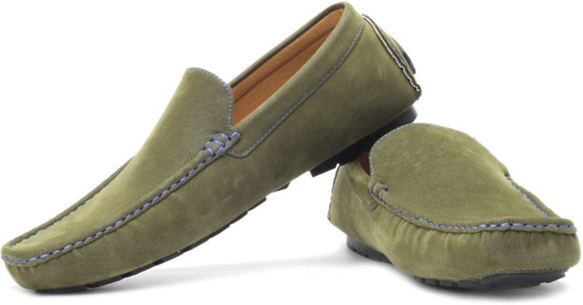 Pavers England Loafers For Men Buy Green Color Pavers England