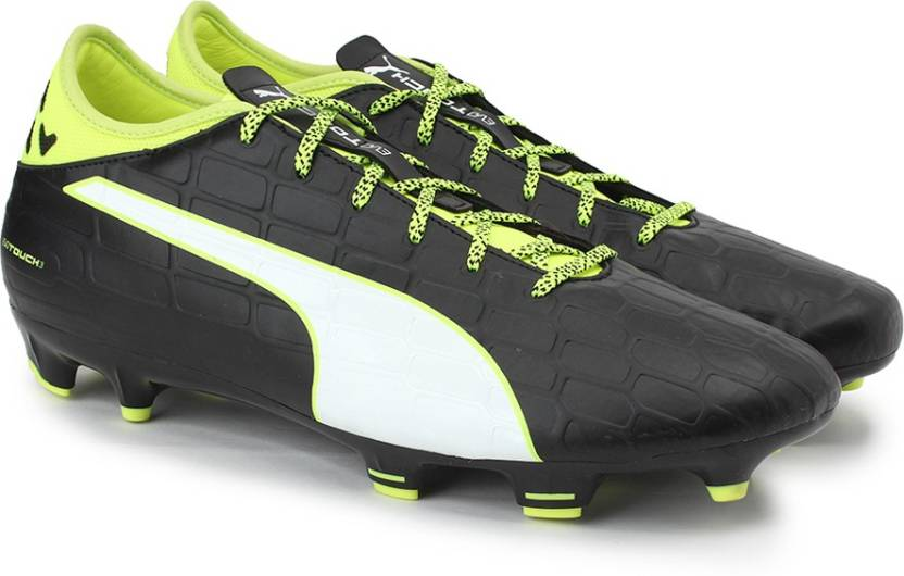 410629b93e4d Puma evoTOUCH 3 FG Football Shoes For Men - Buy black-white-safety ...