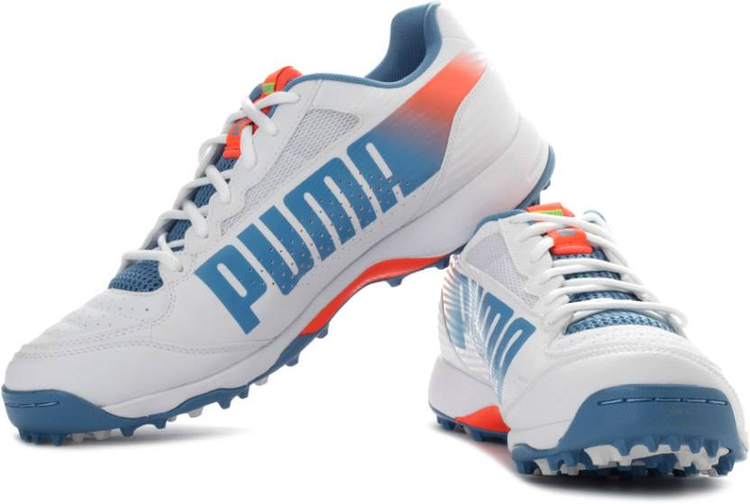 Puma Evospeed Cricket Rubber 3.2 Cricket Shoes For Men - Buy White ... 5e3ee8b15