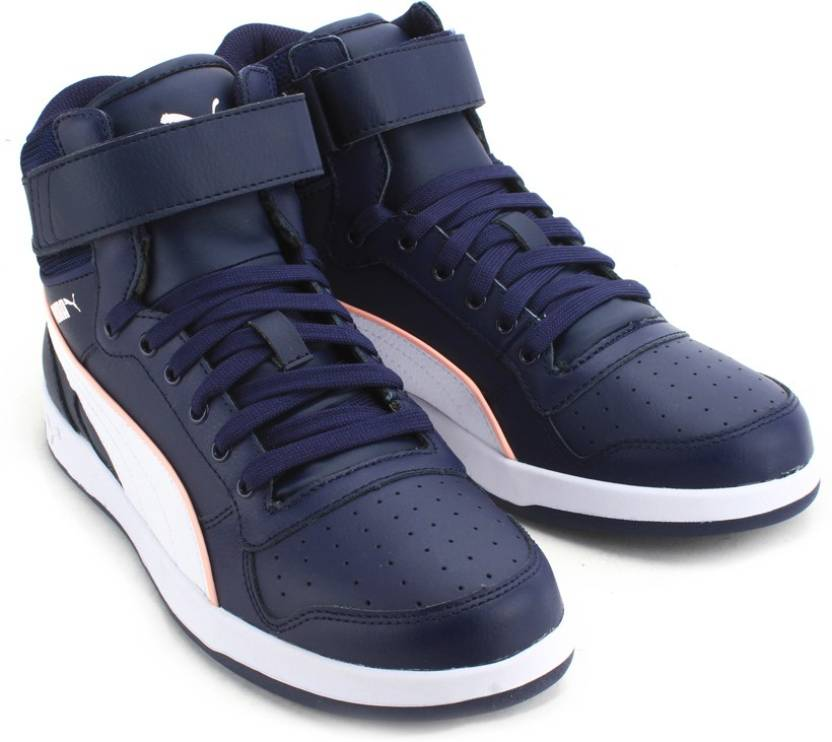 Puma Liza Mid Mid Ankle Sneakers For Women - Buy peacoat-white Color ... 5fb2c606ff