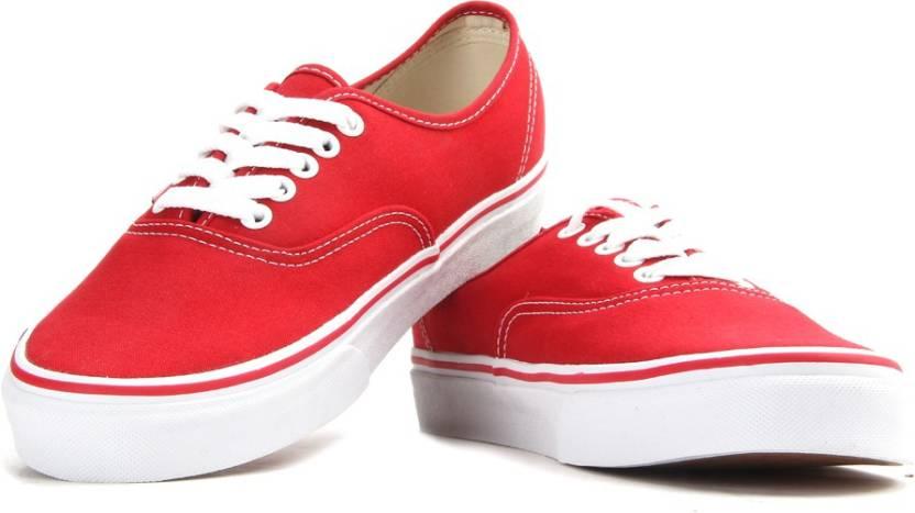 Vans Authentic Canvas Sneakers For Men - Buy Red Color Vans ... 17af63084