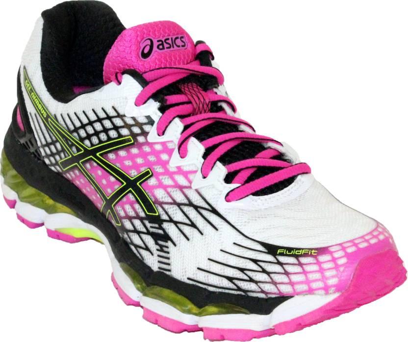 Asics GEL-NIMBUS 17 Running Shoes For Women - Buy WHITE BLACK PINK ... 62a7413b36