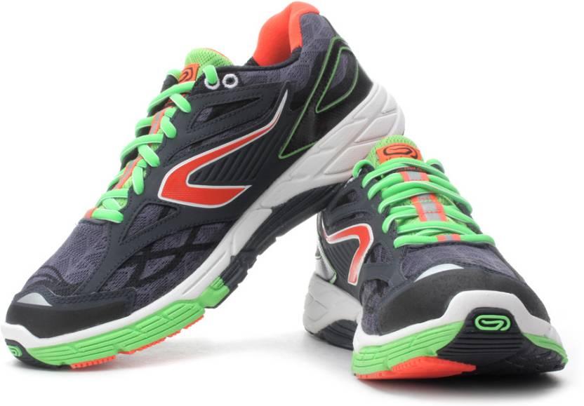 90606e4e456de Kalenji by Decathlon Eliorun Running Shoes For Men - Buy Black Green ...