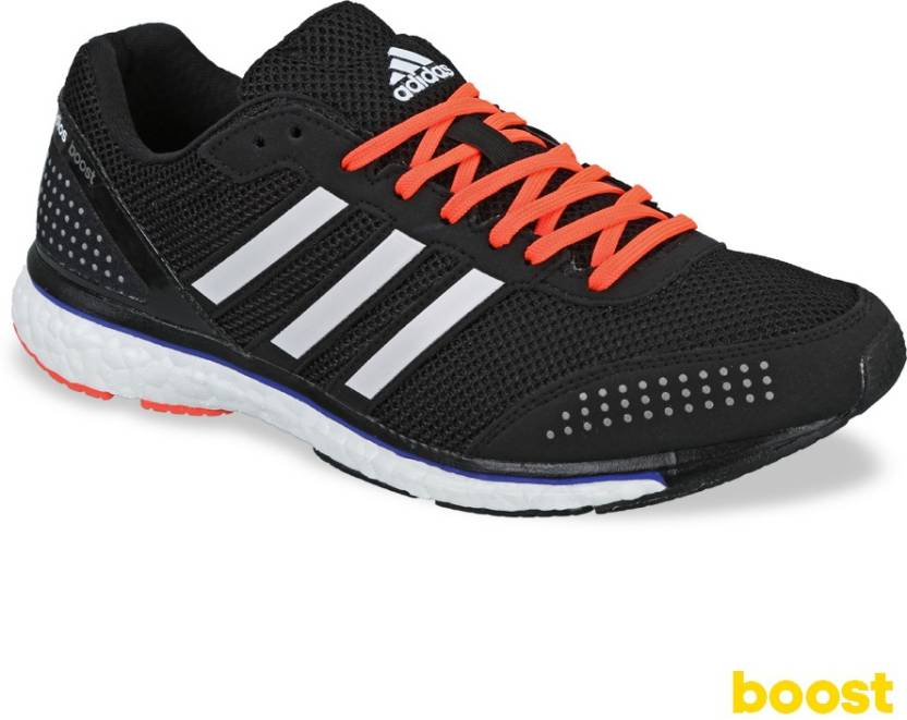 low cost 074d7 00550 ADIDAS Adizero Adios Boost 2 M Running Shoes For Men (Black)