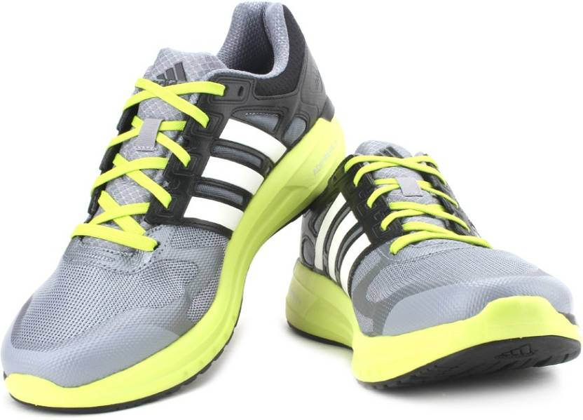 on sale 7f4d0 a07a1 ADIDAS Duramo Elite M Running Shoes For Men (Green, Grey)