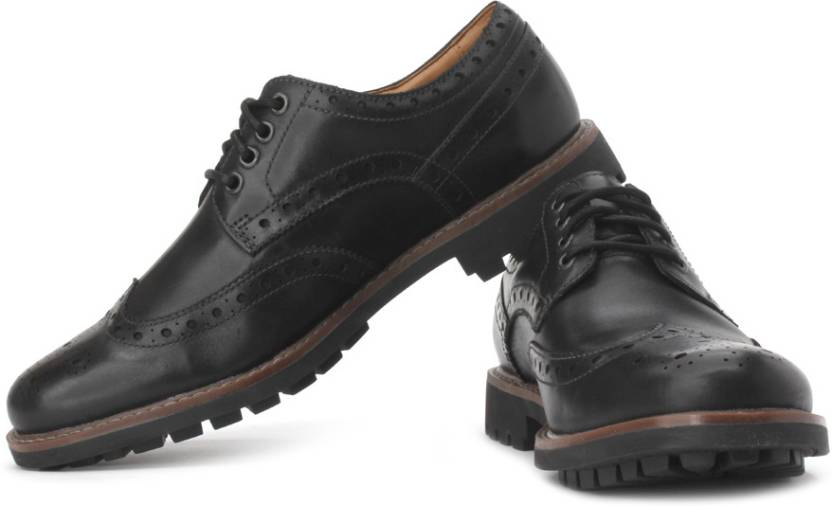 136dabad7db83 Clarks Montacute Wing Corporate Casuals For Men - Buy Black Color ...