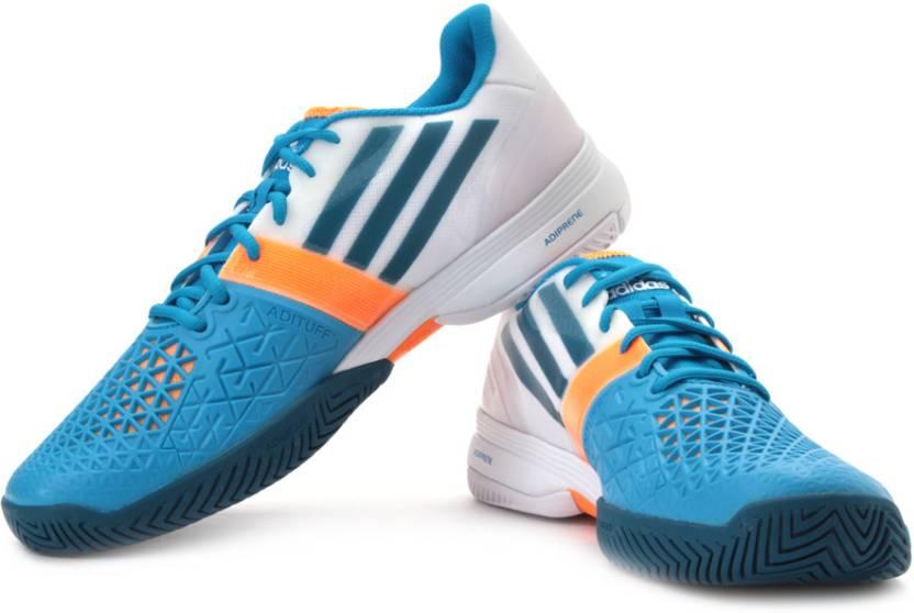 separation shoes b3c08 094f4 ADIDAS Cc Adizero Feather Iii Tennis Shoes For Men (Blue, White, Orange)