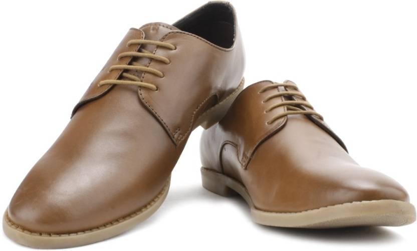 a9276bb4e3bc Allen Solly Lace Up Shoes For Men - Buy Tan Color Allen Solly Lace ...