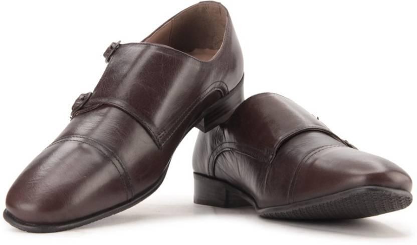 d096946c18d7 Red Tape Men Genuine Leather Monk Strap Shoes For Men - Buy Brown ...