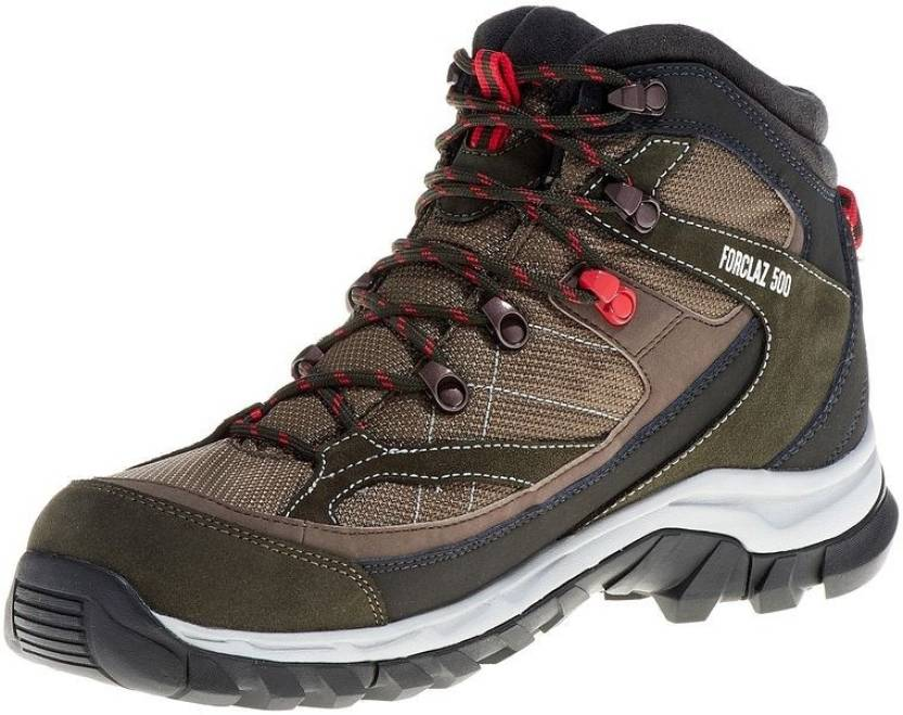c54ca48e527 Quechua by Decathlon New Forclaz 500 Hiking & Trekking Shoes For Men  (Brown, Red)
