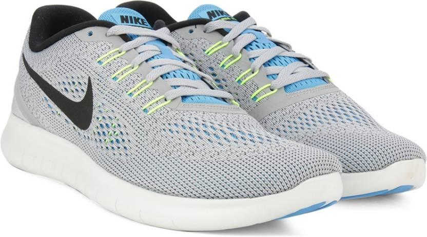 cc68e95f03da Nike FREE RN Running Shoes For Men - Buy WOLF GREY BLACK-BLUE GLOW ...