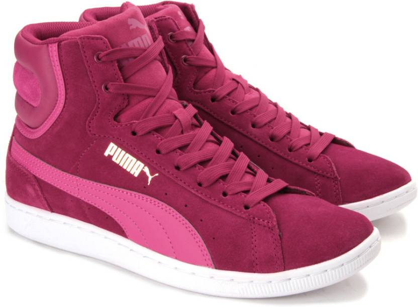 0696ac99b448 Puma Vikky Mid Wn S Sneakers For Women - Buy Cerise