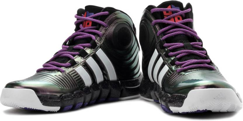 low priced ab84c 6e81a ADIDAS D Howard 4 Basketball Shoes For Men (Purple, White, Black)