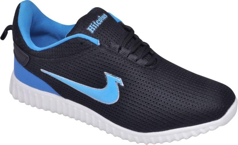 79e6110b9016 Hitcolus Black   Sky Blue Running Shoes For Men - Buy Hitcolus Black ...