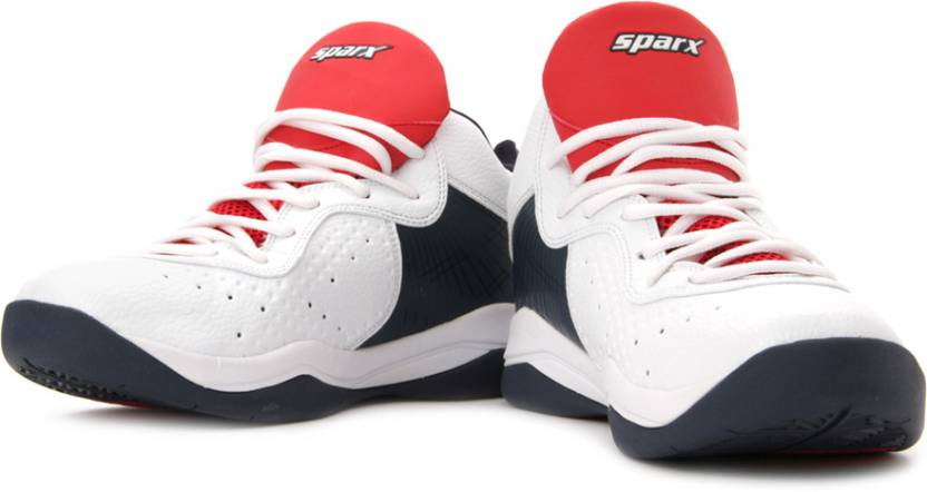 Sparx SM-167 Mid Ankle Sneakers For Men(Red, White, Blue)