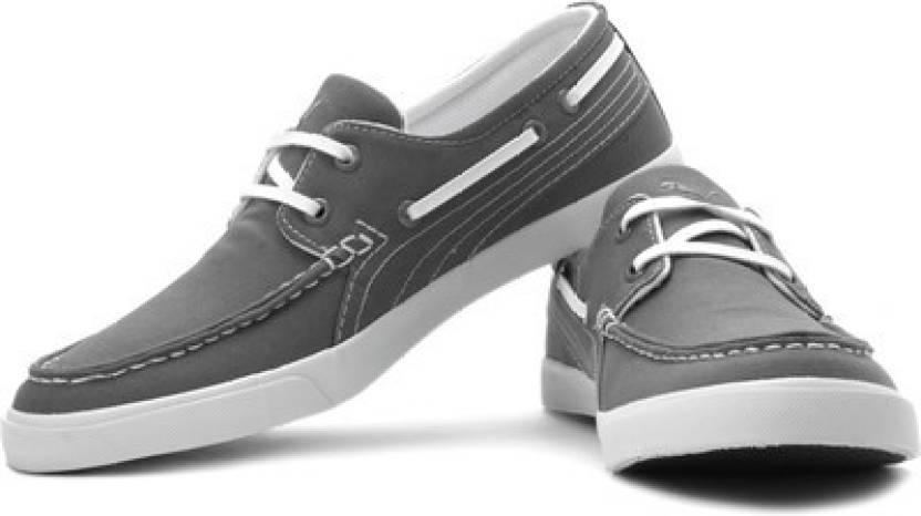 b11a74bc89e313 Puma Yacht CVS IDP Boat Shoes For Men - Buy Steel Gray Color Puma ...