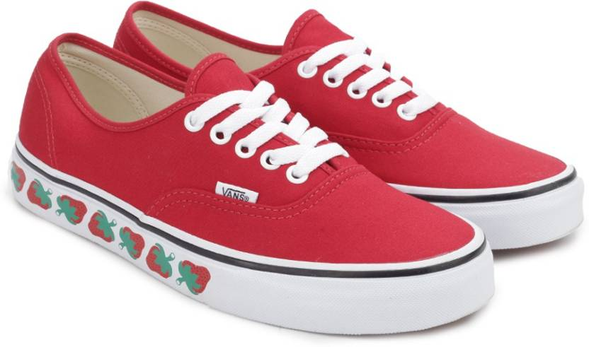 e4e99cac07 Vans AUTHENTIC Sneakers For Men - Buy (STRAWBERRY TAPE) RED BLACK ...