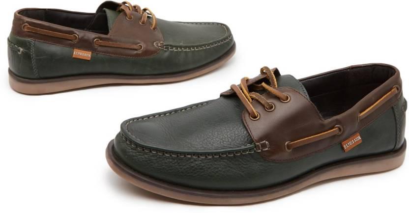 U.S. Polo Assn Broken Boat Shoes For Men (Green)