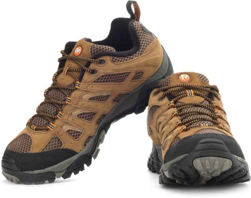 6438f3ff6a7dc Merrell Moab Ventilator Trekking Shoes For Men (Orange, Brown, Black)