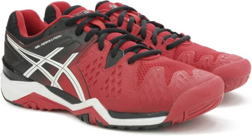 finest selection 4c08c 3c169 Asics Gel-Resolution 6 Tennis For Men (Red)