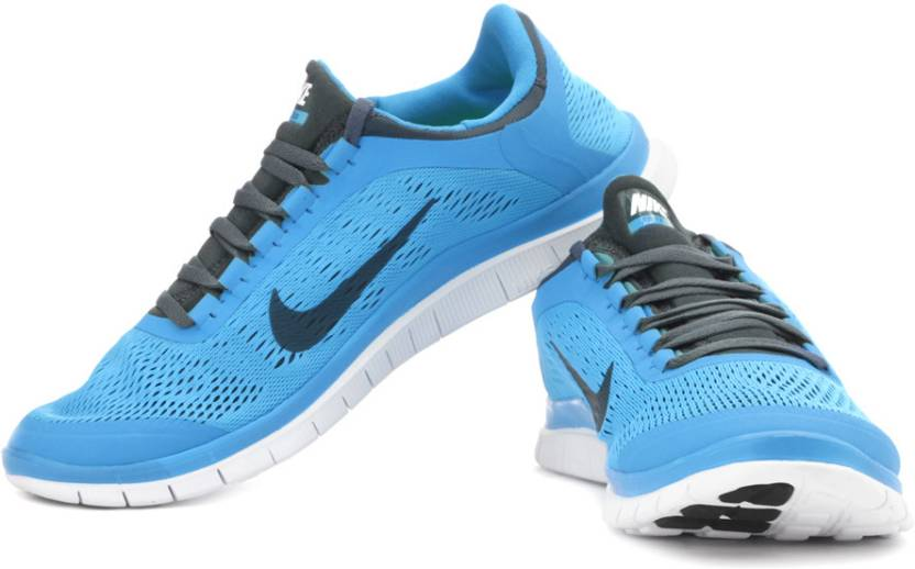 newest be79a fd14a Nike Free 3.0 V5 Running Shoes For Men (Blue, Grey)