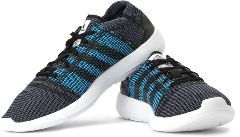 hot sale online f87e5 7bb47 ADIDAS Element Refine Tricot M Running Shoes For Men (Grey, Black, Blue)