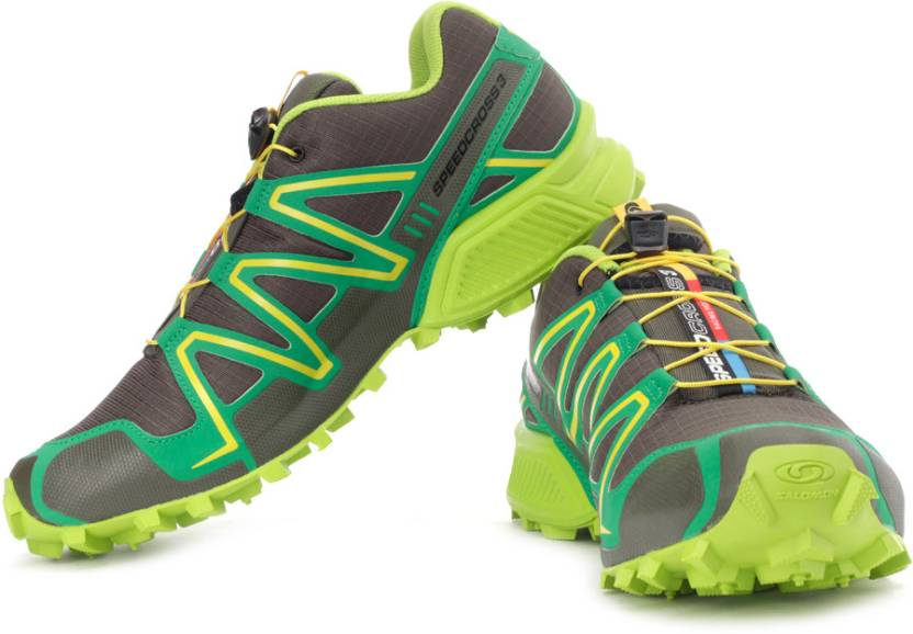 low priced c06b1 4461d Salomon Speedcross 3 Mountain Trail Running Shoes For Men (Green, Grey)
