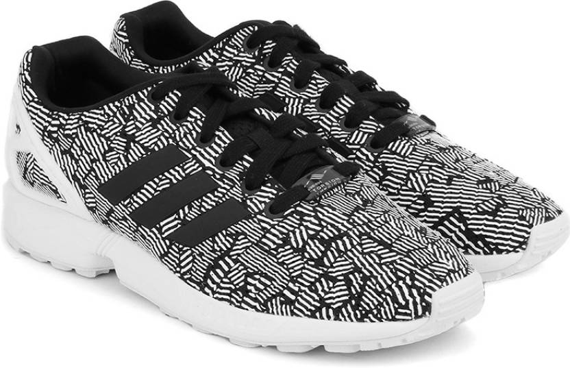 sale retailer 7e7c7 96249 ADIDAS ORIGINALS ZX FLUX W Sneakers For Women (Black, White)