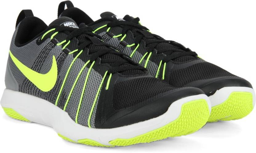 9fa06d5ab3cf9 Nike FLEX TRAIN Training Shoes For Men - Buy COOL GREY VOLT-BLACK ...