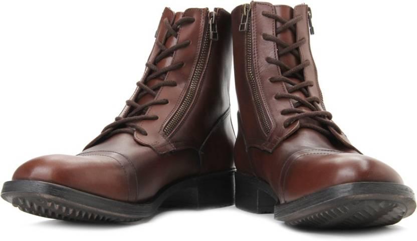d89c863fb35 Steve Madden Arriza Boots For Men - Buy Cognac Color Steve Madden ...