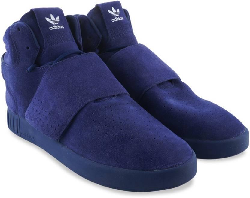 adidas originali tubulare invasore cinghia scarpe da ginnastica per gli uomini comprano dkblue
