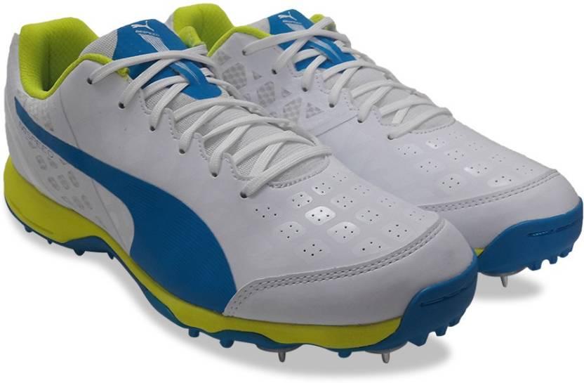 Puma evoSPEED Cricket Spike 1.4 Cricket Shoes For Men - Buy white ... a12de14e6