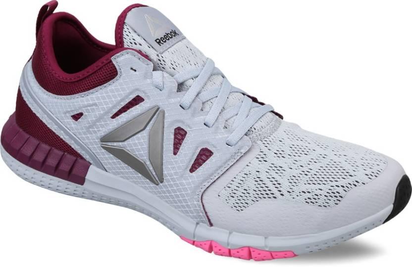 a10c36b7e66496 REEBOK ZPRINT 3D Running Shoes For Women - Buy GREY BERRY PINK ...