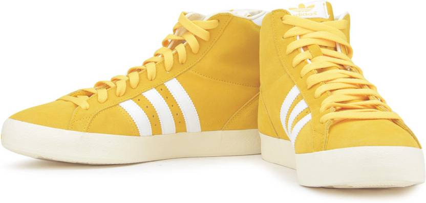the best attitude a2aa8 4dcf0 ADIDAS ORIGINALS Basket Profi Mid Ankle Sneakers For Men (Yellow)