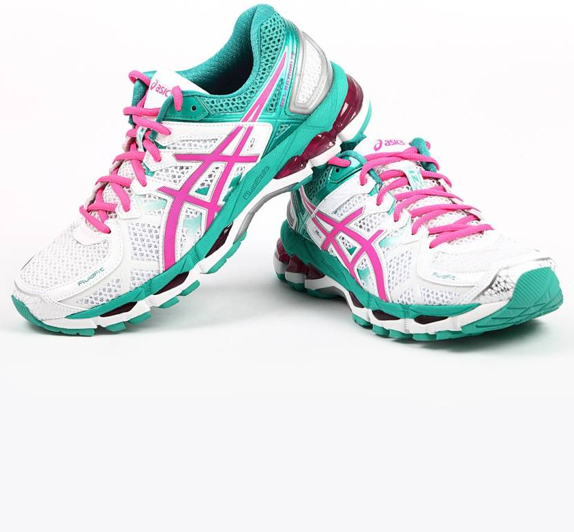cfe8413fdaf37 Asics Gel-Kayano 21 Women Running Shoes For Women - Buy White / Hot ...