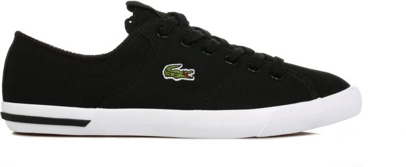 c9da5422e9ed Lacoste Womens Black Ramer LCR2 Canvas Trainers Casual Shoes For Women