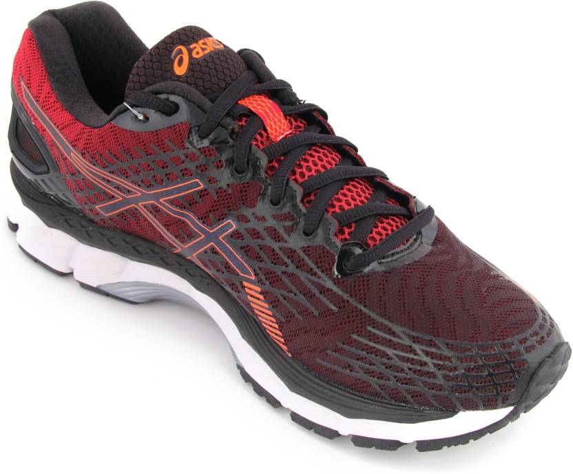 Asics Gel-Nimbus 17 Men Running Shoes For Men - Buy black hot orange ... ddace6bc71