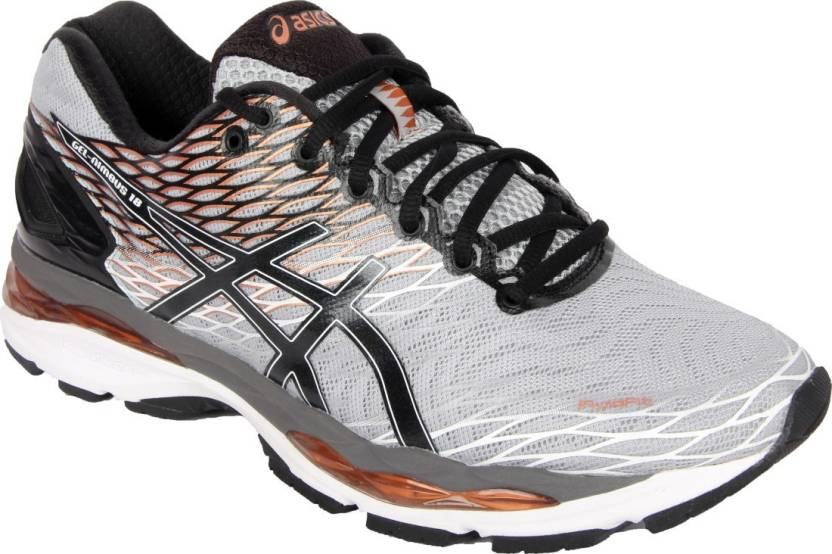 c3c14134a3 Asics GEL-NIMBUS 18 Running Shoes For Men - Buy MIDGREY BLACK COPPER ...