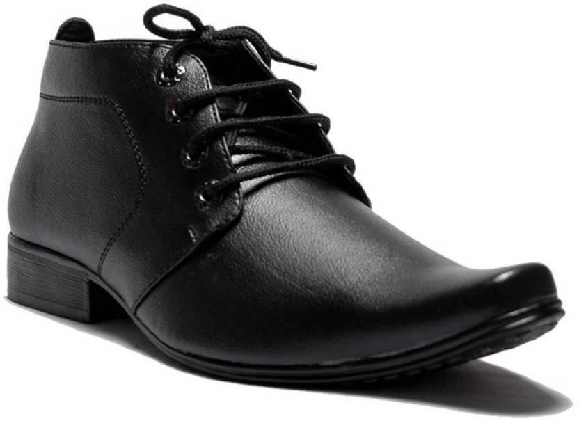 Faux Leather Black Color Ankle Length