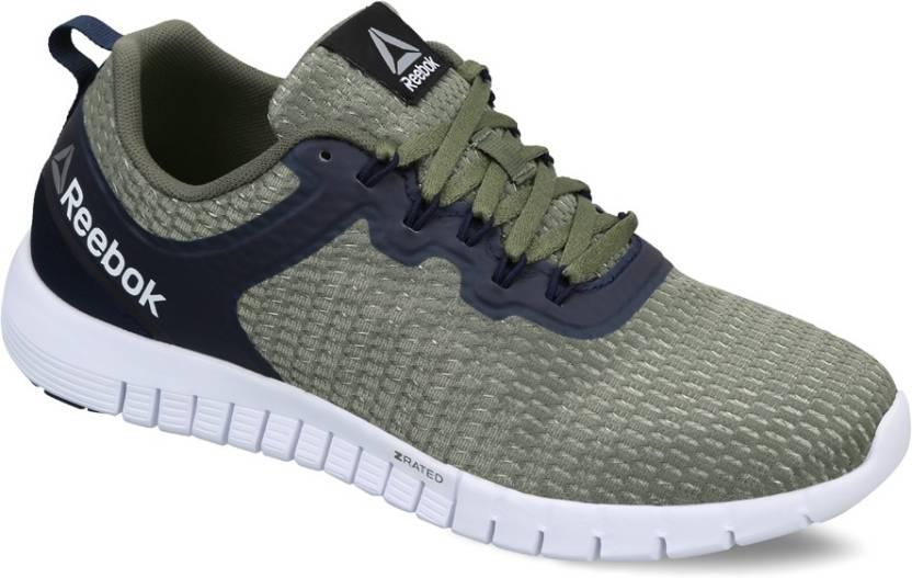 REEBOK ZQUICK LITE Running Shoes For Men - Buy GREEN GREEN NAVY ... 98f7f1e59146