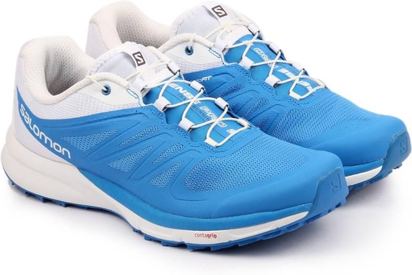 best website aabfa a2c5b Salomon SENSE PRO 2 BRIGHT BLUE BL WH Trail Running Shoes For Men (Blue)