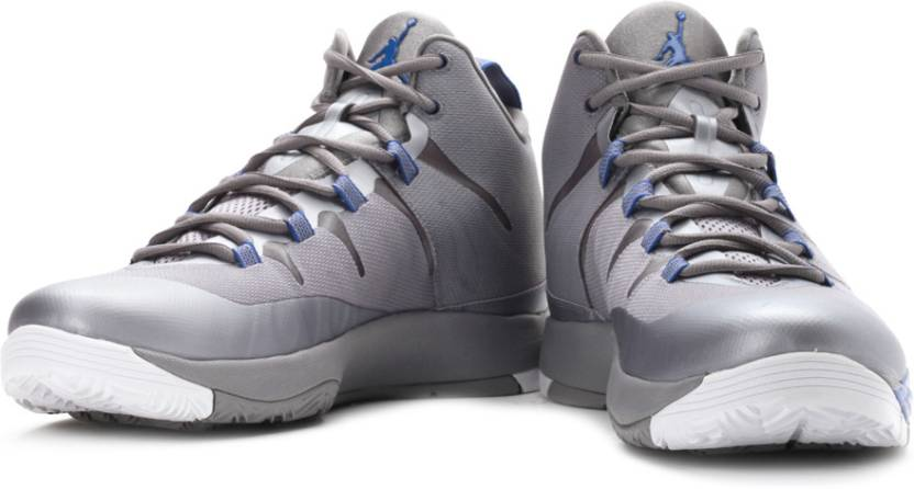 huge selection of 46c5b 67864 Nike Jordan Super.Fly2 Basketball Shoes For Men (Blue, Grey)