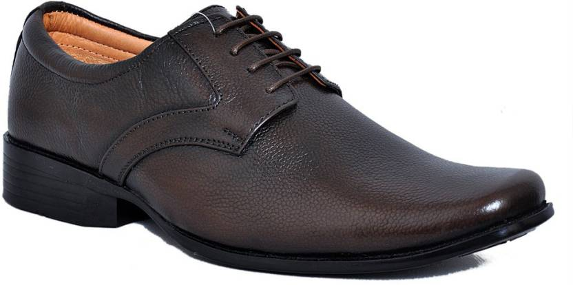 4212ea1d45dcd Zoom Zoom Branded Men's Pure Leather Formal Shoes D-61-Brown-7 Lace Up For  Men (Brown)